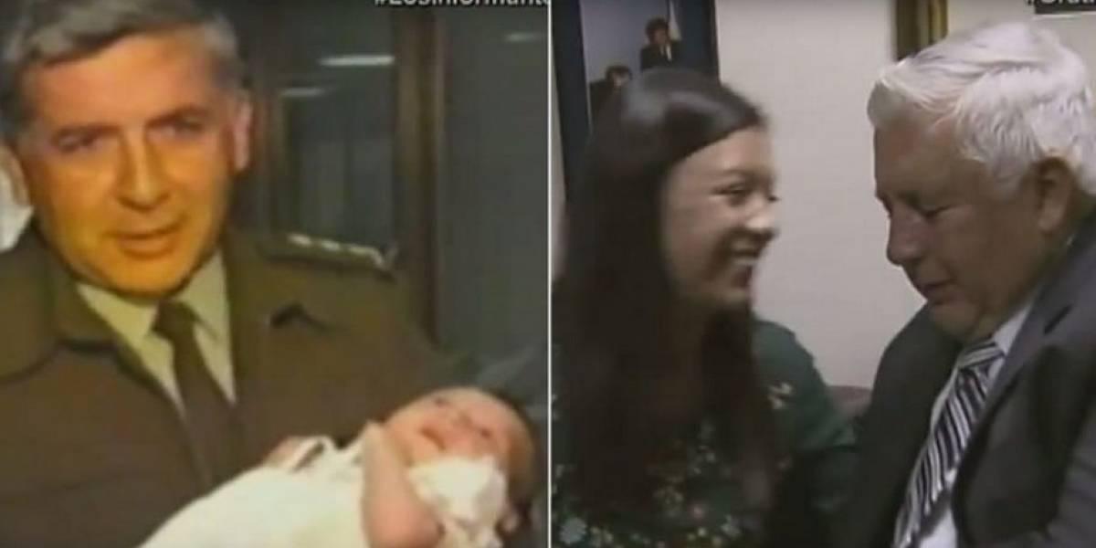 Después de 20 años, Rosso José Serrano se reencuentra con bebé que rescató