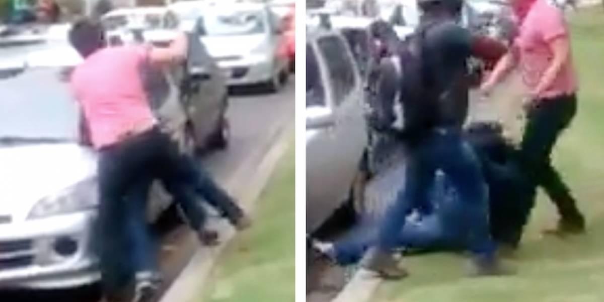 Video: conductores se van a puños en plena vía del norte de Bogotá