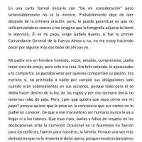 Carta de la hija del General Gabela