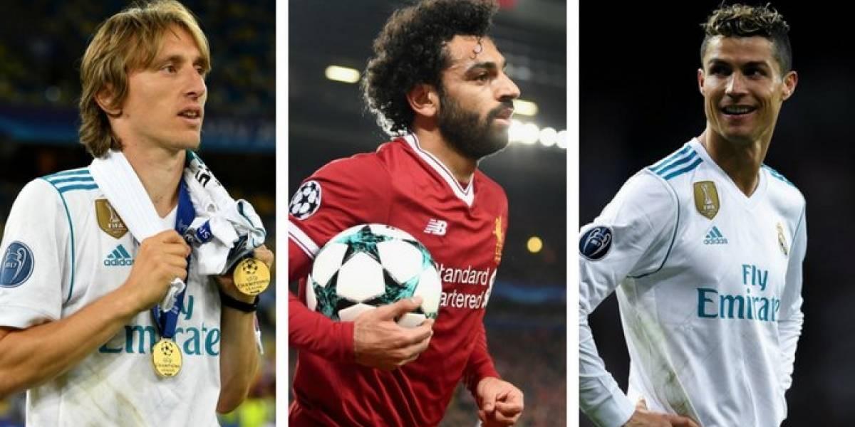 Modric, Ronaldo o Salah: La UEFA eligió sus tres candidatos para mejor jugador 2017-2018