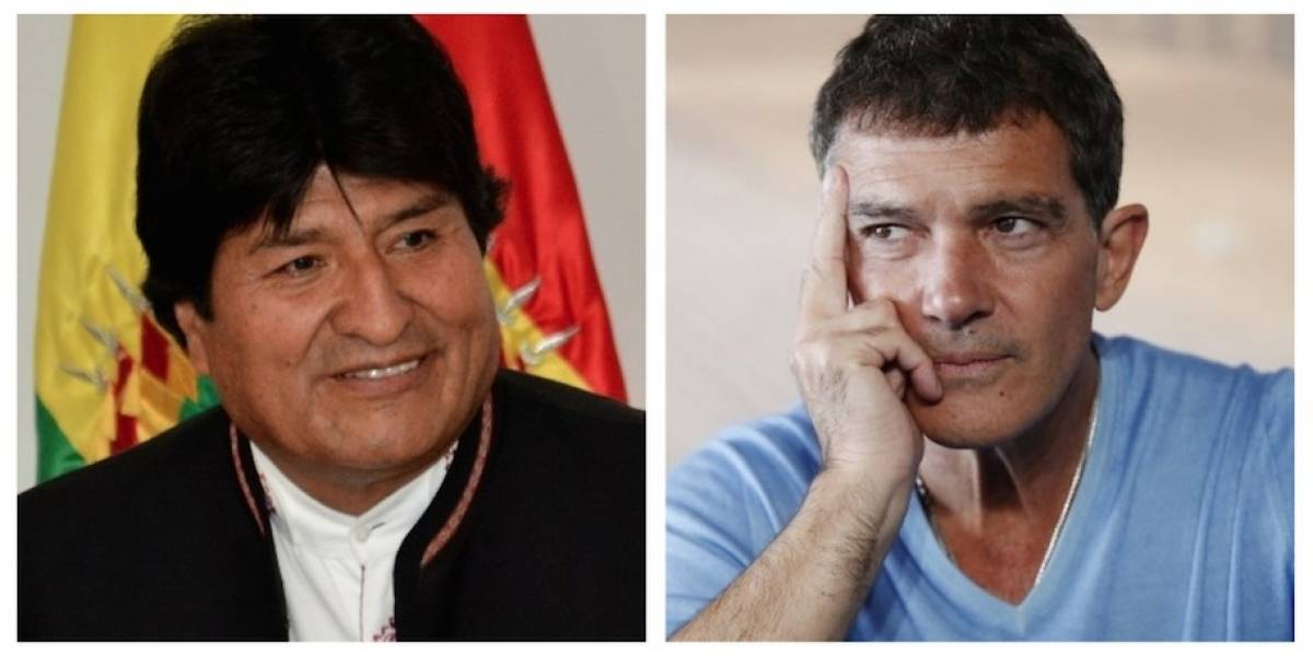 Evo Morales le envía un fraternal mensaje a Antonio Banderas en Twitter