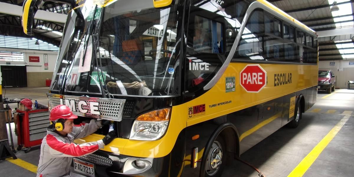 Buses escolares deben cumplir 6 normas de seguridad