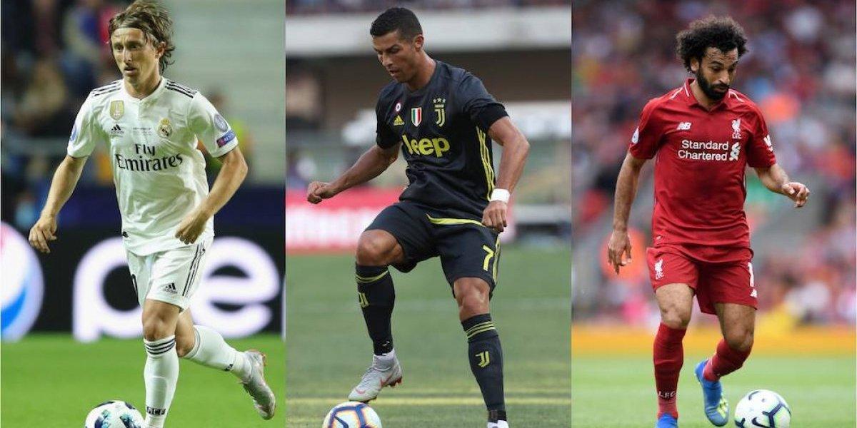 Cristiano Ronaldo, Modric y Salah disputarán premio al mejor de Europa