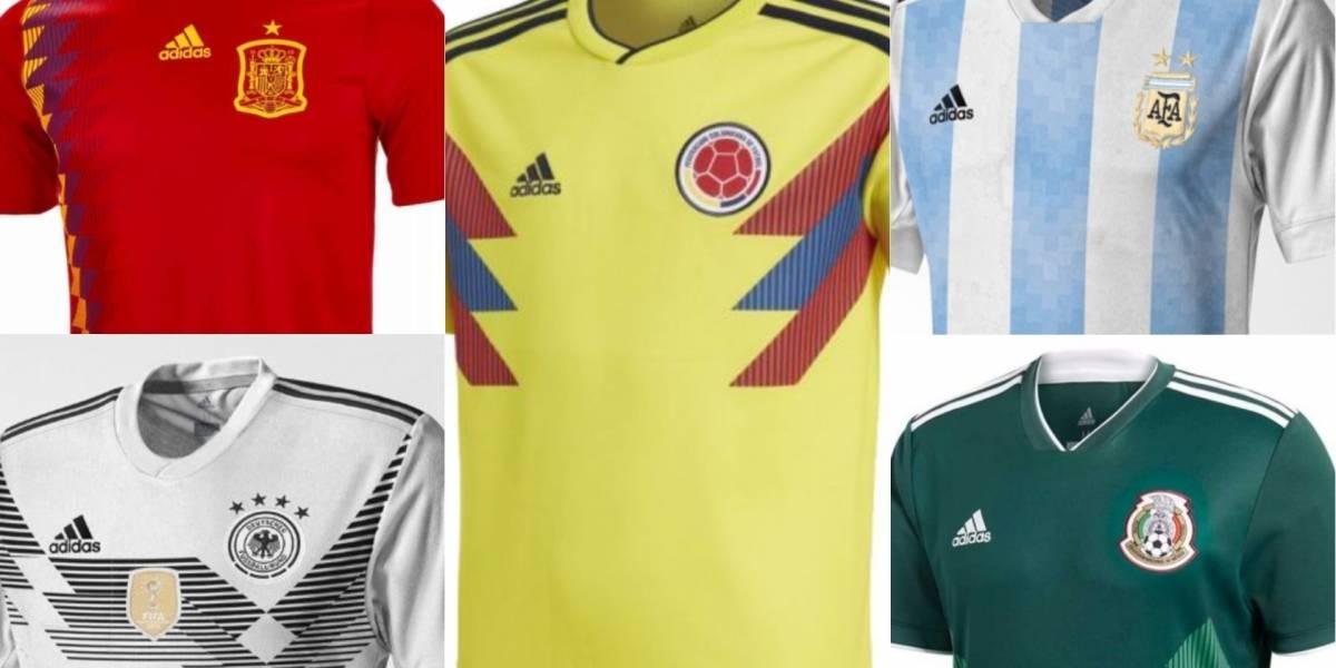 Precios de las camisetas de las selecciones que estarán en el Mundial Rusia  2018 fb333f0ac73