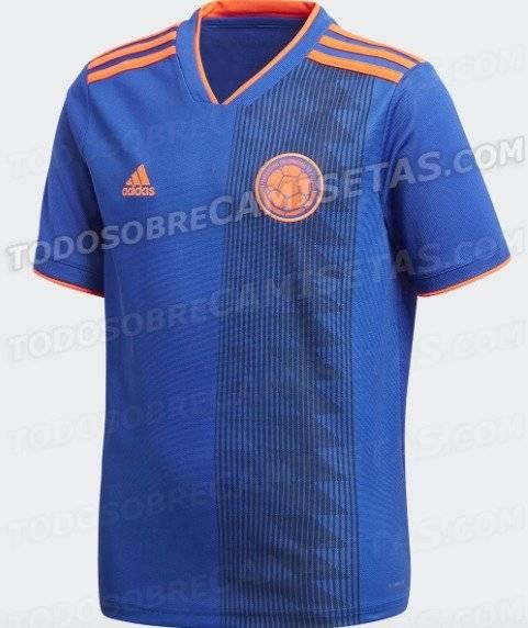 604e2746dea Imágenes reales de la nueva camiseta alternativa de la selección Colombia  para Rusia 2018