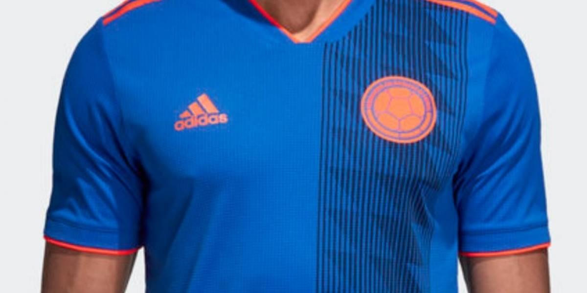 f54f8ad649 Segundo uniforme de Colombia para el Mundial Rusia 2018 completamente azul