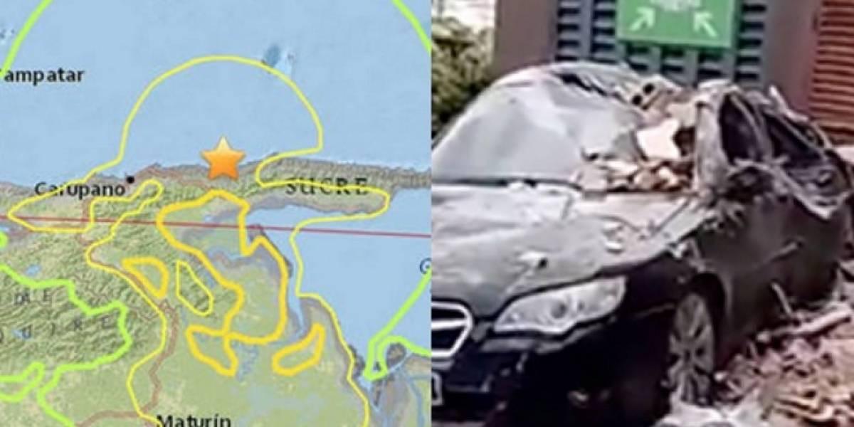 Los primeros videos del terremoto que sacudió a Venezuela