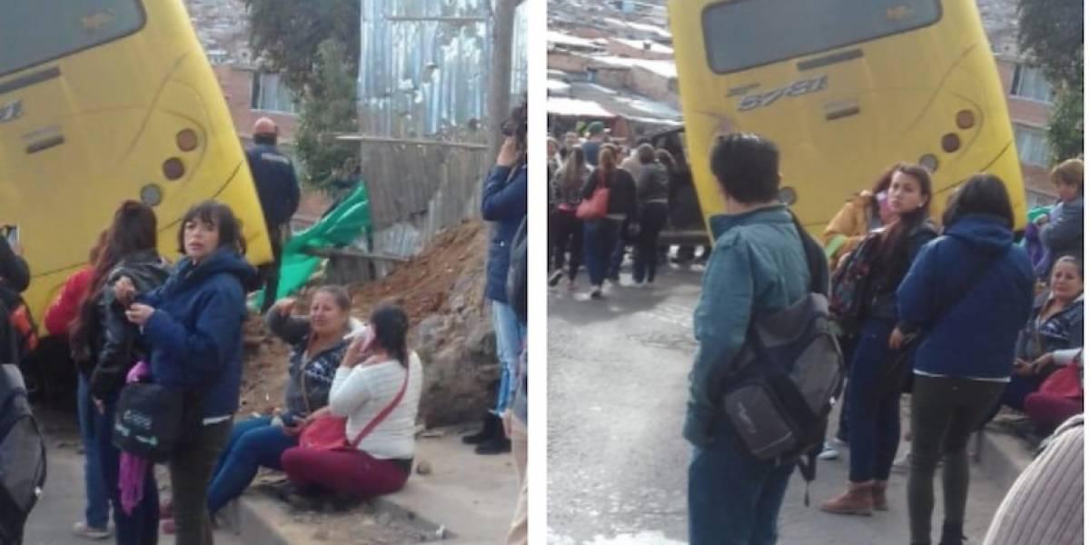¡Atención! buseta sin frenos deja varios heridos en Bogotá