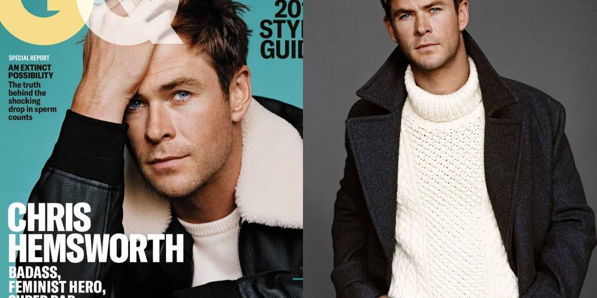 Chris Hemsworth confesó a GQ que casi mata a un fotógrafo por tomarle fotos a su hijo desnudo