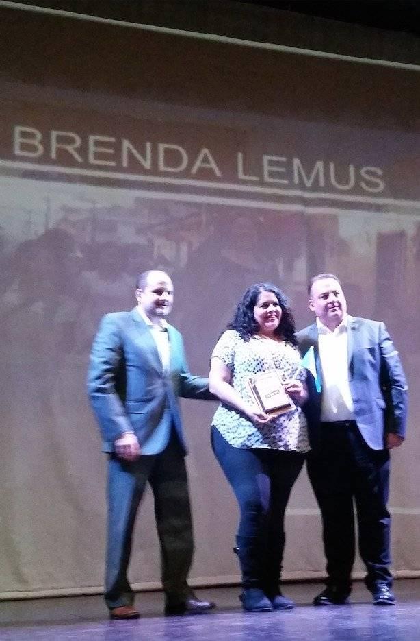 """Brenda Lemus recibió el homenaje """"Chapines Calidá"""", de Elektra Guatemala. Foto: David Lepe Sosa"""