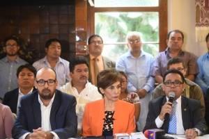 conferencia de Encuentro por Guatemala por antejuicio contra Nineth Montenegro