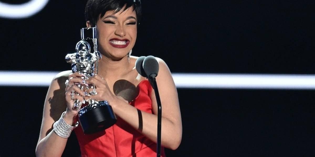 """Cardi B, la gran ganadora de los premios """"MTV a los Videos Musicales"""""""