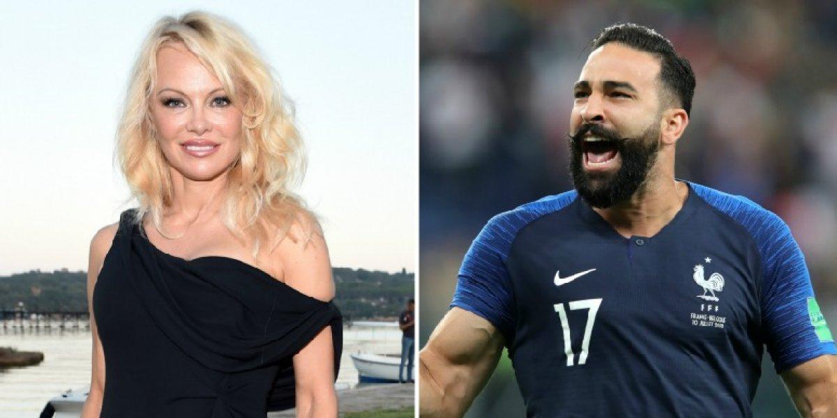 Pamela Anderson desmiente ruptura con el futbolista Adil Rami