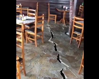 Videos: temblor en Venezuela partió en dos un restaurante en Trinidad