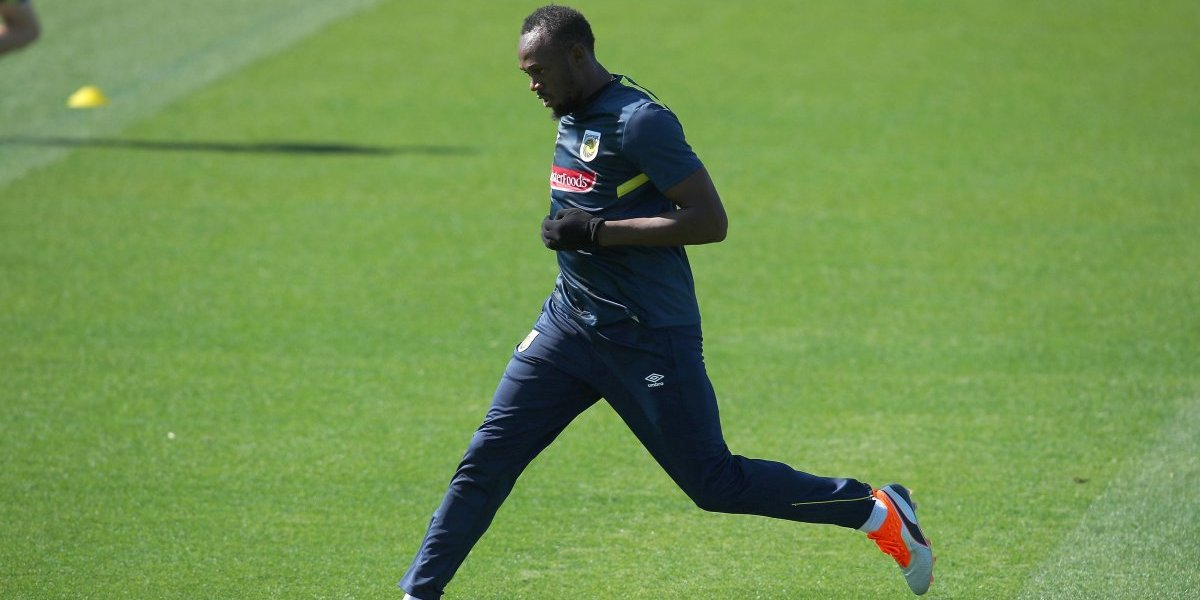 Usain Bolt completa su primer entrenamiento con los Mariners