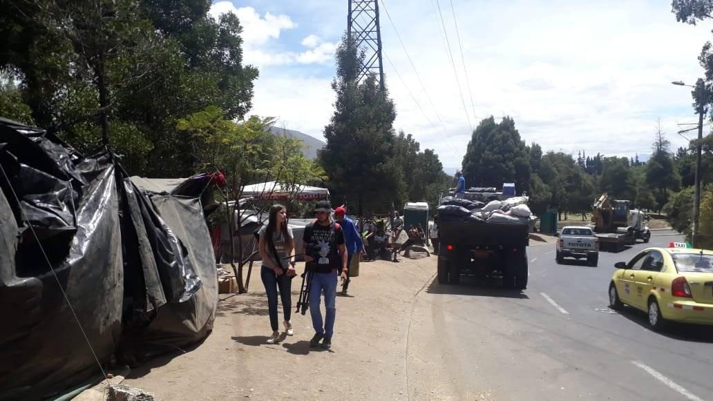Venezolanos en Intercambiador de Carcelén