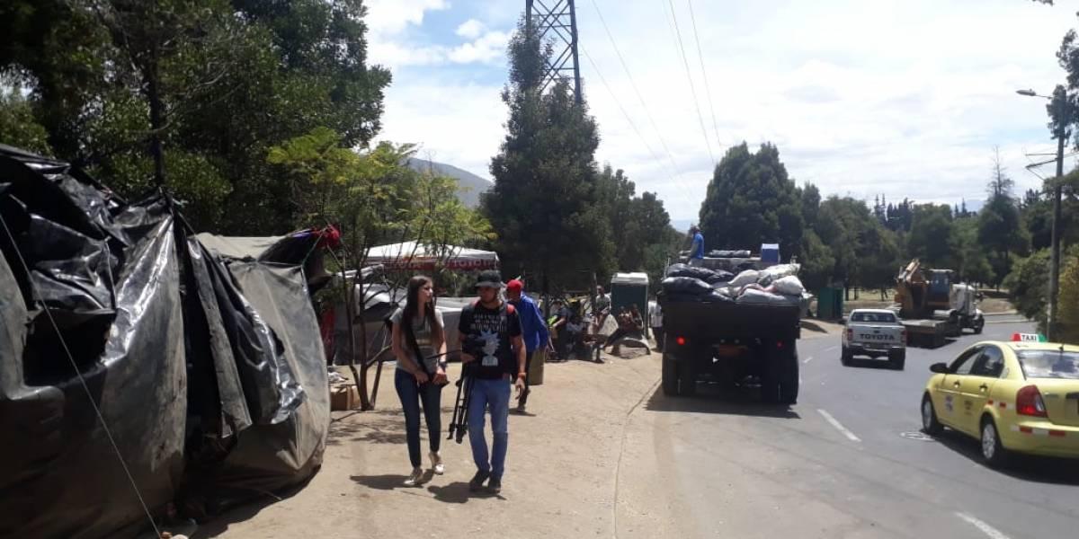 Quito: Limitan permanencia de venezolanos en Intercambiador de Carcelén