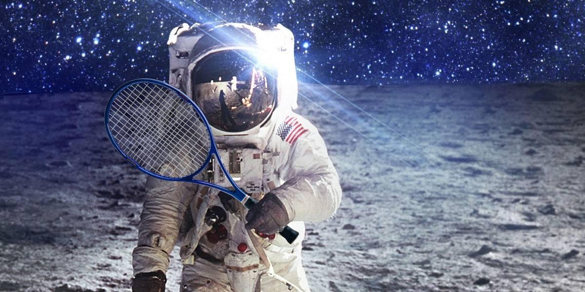 NASA astronauts play tennis in space