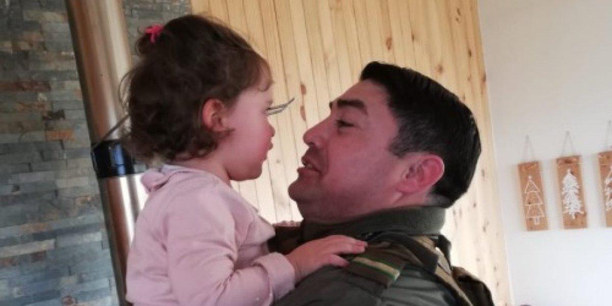 Primeros auxilios de carabinero salvó la vida de guagua que ingirió diluyente en Coyhaique