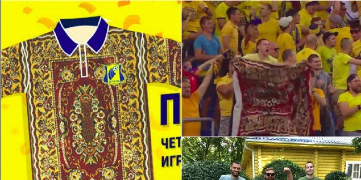 Equipo ruso presenta jersey inspirado en una alfombra