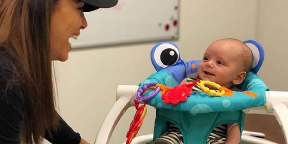 ¡Adorable! Eva Longoria regresa a su trabajo pero se lleva a su bebé con ella