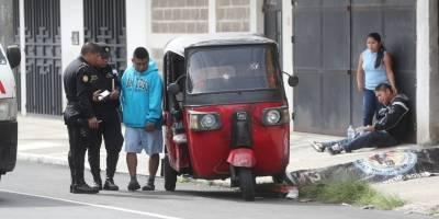Mototaxista asesinado en zona 6