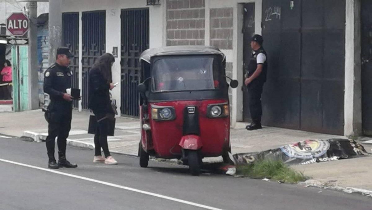 piloto de mototaxi asesinado en zona 6