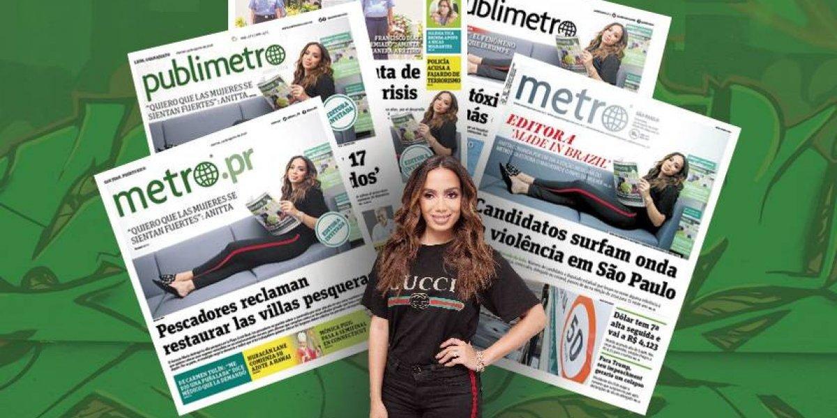 Anitta se lleva las portadas de Latinoamérica