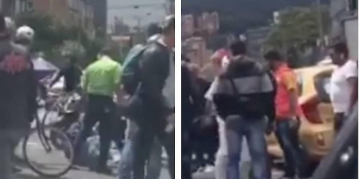 Video: Ladrón se estrella contra taxi cuando intenta escapar en el norte de Bogotá