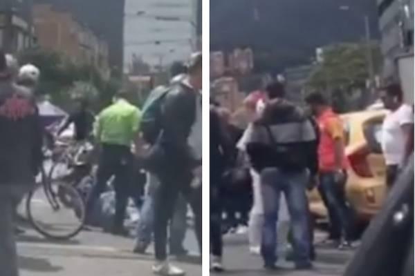 Ladrón se estrella contra taxi cuando intentaba escapar en el norte de Bogotá