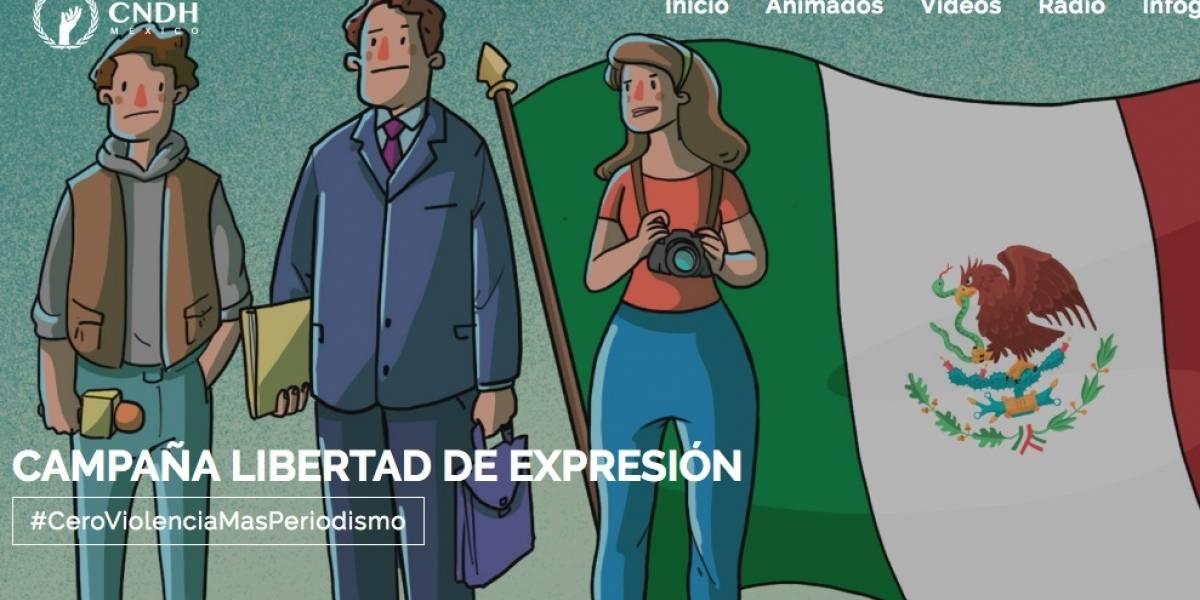 CNDH lanza la campaña #CeroViolenciaMásPeriodismo
