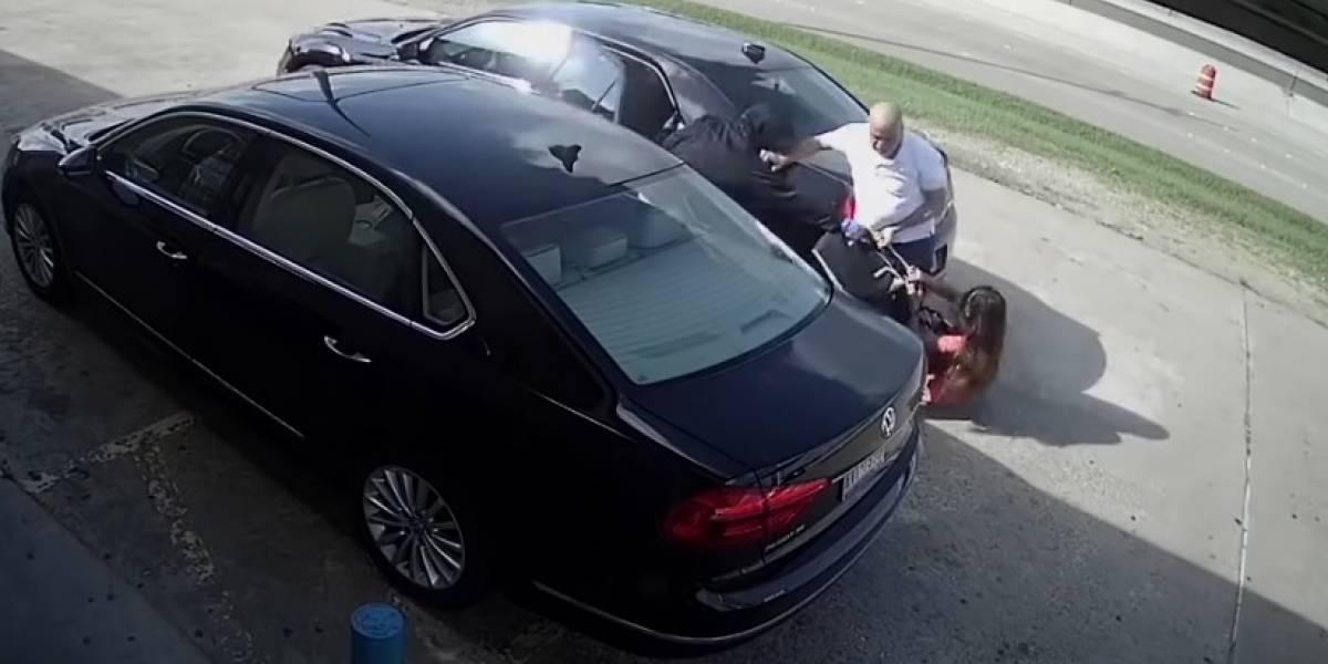 Video: ladrones arrollan a una mujer Por robarle 222 millones de pesos