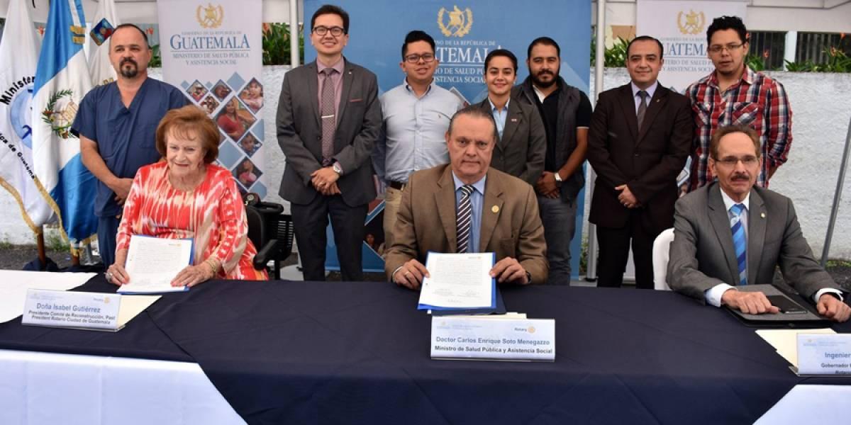 Ministerio de Salud y Club Rotario logran alianza para fortalecer servicios de salud a guatemaltecos