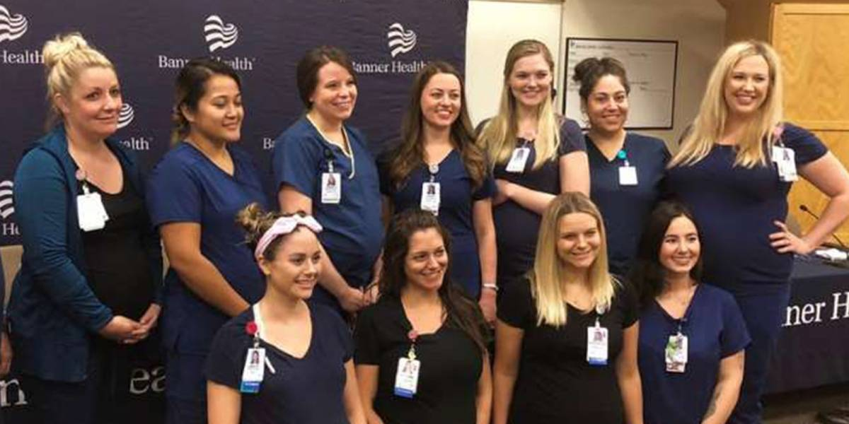 El increíble caso de 16 enfermeras embarazadas en un hospital de Arizona que ha dado la vuelta al mundo