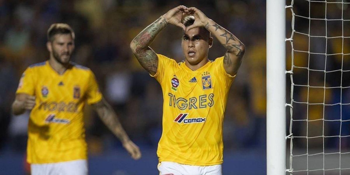 Con un golazo de Edu Vargas, Tigres aplastó a Puebla y pasó a cuartos de la Copa MX