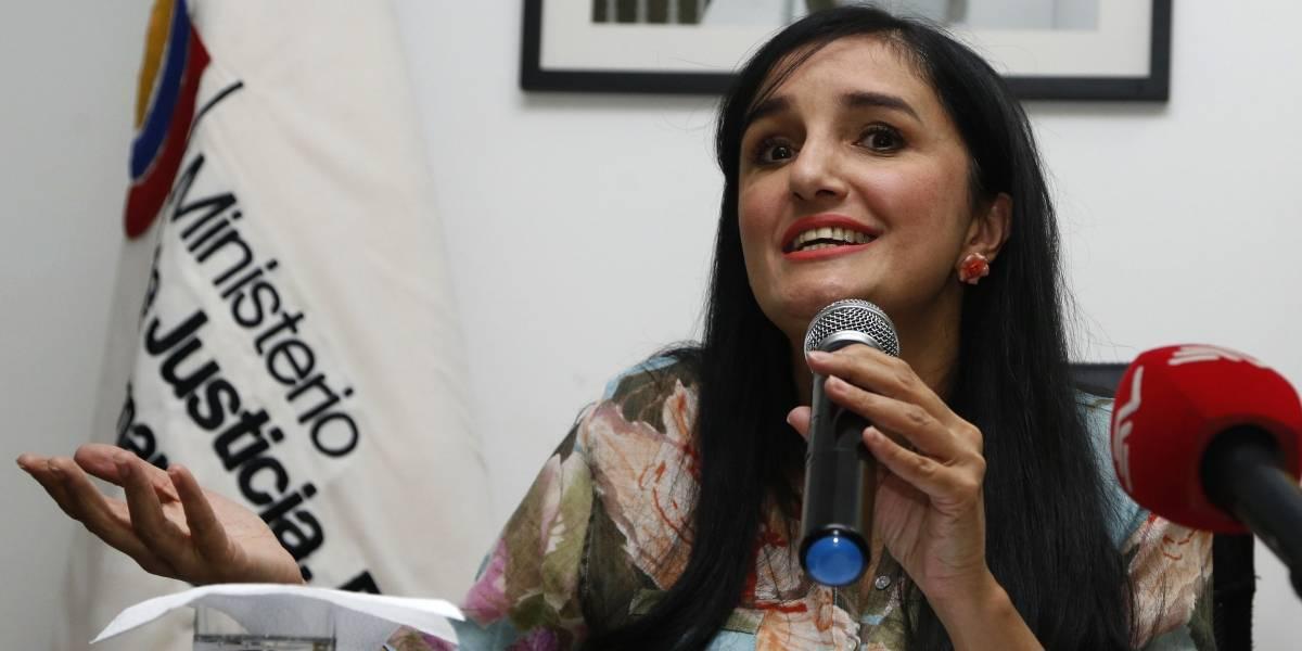 Rosana Alvarado presenta su renuncia como ministra de Justicia