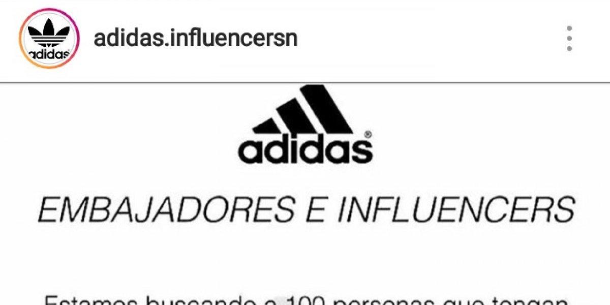 """¿Quieres ser """"influencer"""" de Adidas?: la estafa online que hizo caer a varios en Instagram"""