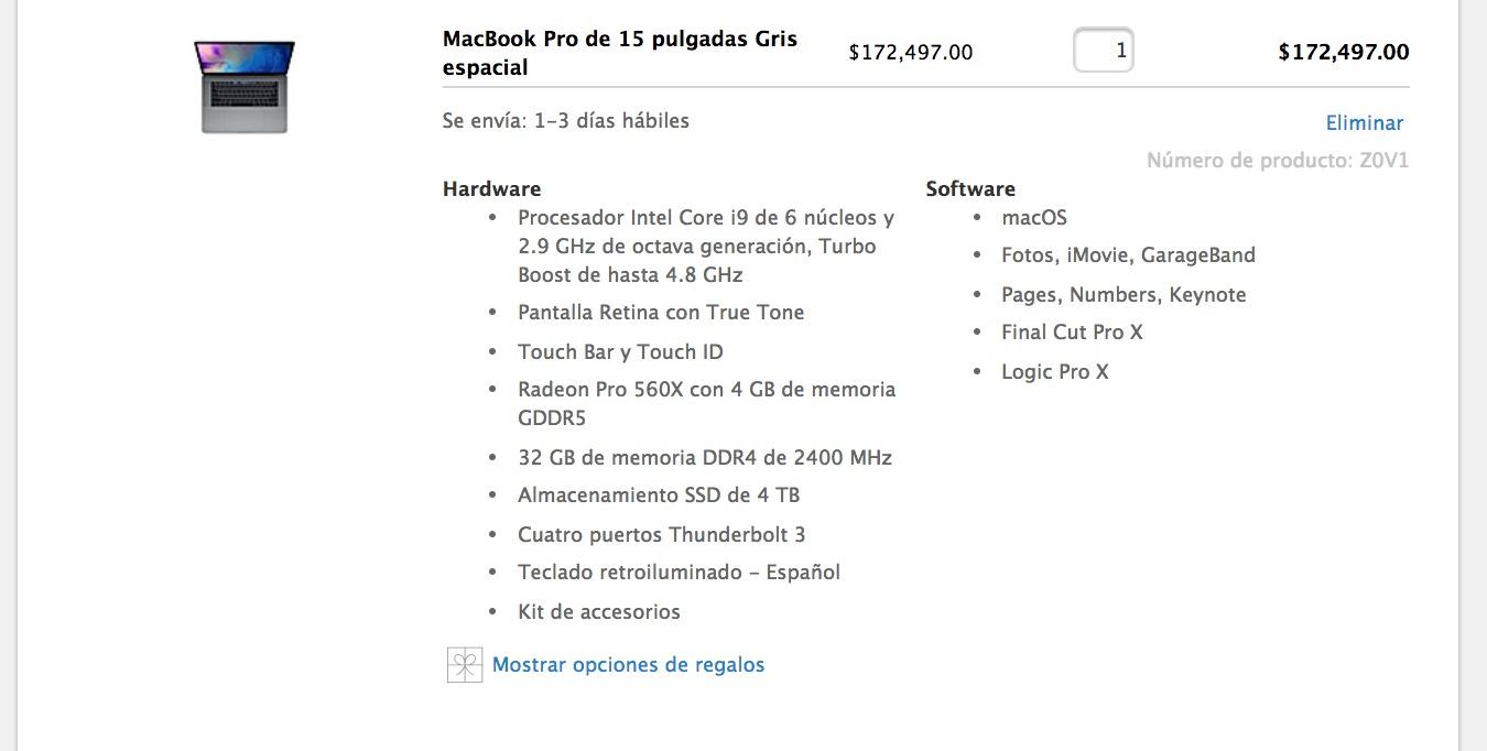 Apple MacBook Pro max specs
