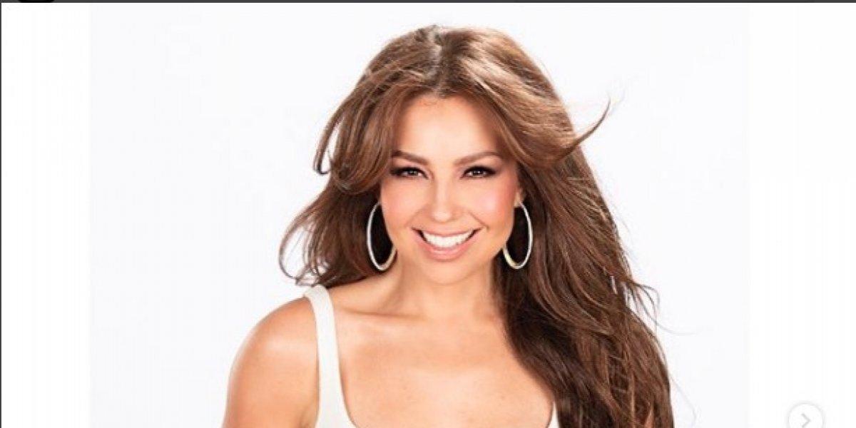 Falla playback y se revela la verdadera voz Thalia durante show en vivo