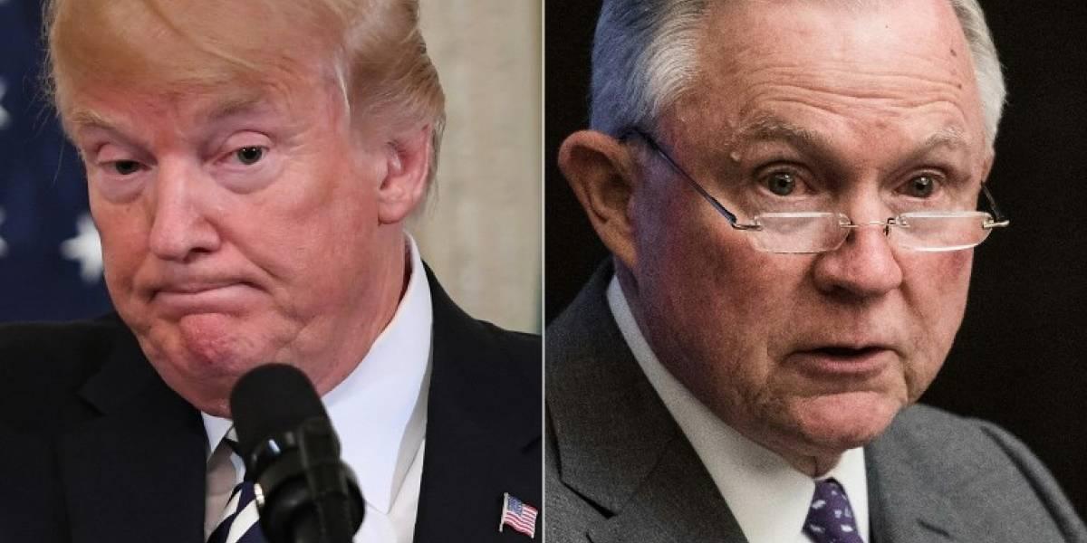 Trump critica a Sessions y este responde que no se dejará presionar