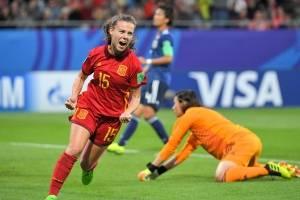 Acciones del juego de la gran final entre Japón y España