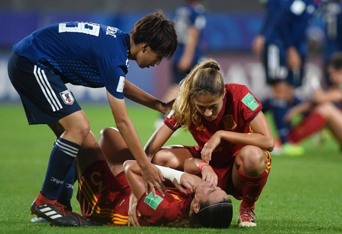 Las españolas sufrieron la derrota