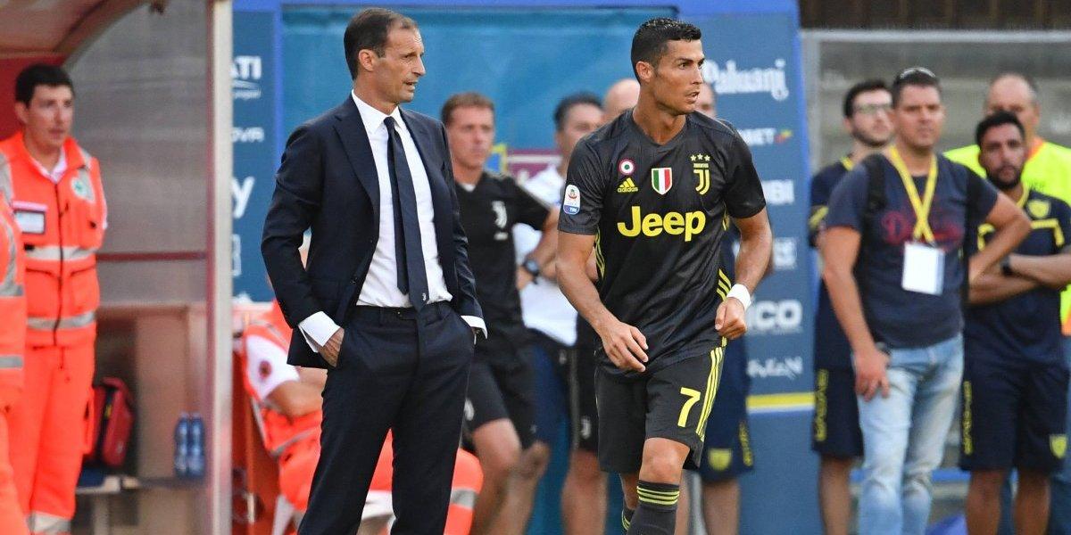 Ronaldo también tiene un lugar en la banca de la Juventus
