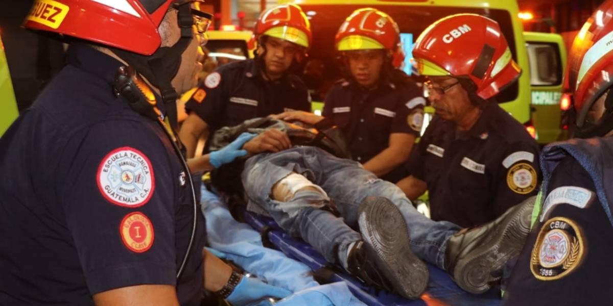 Balacera en zona 5 deja 10 personas heridas