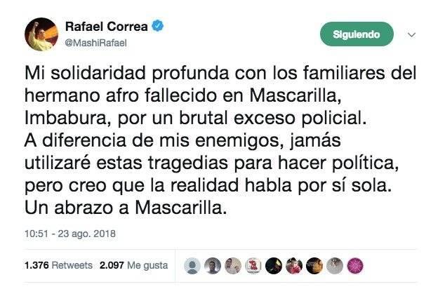 Twiter Rafael Correa