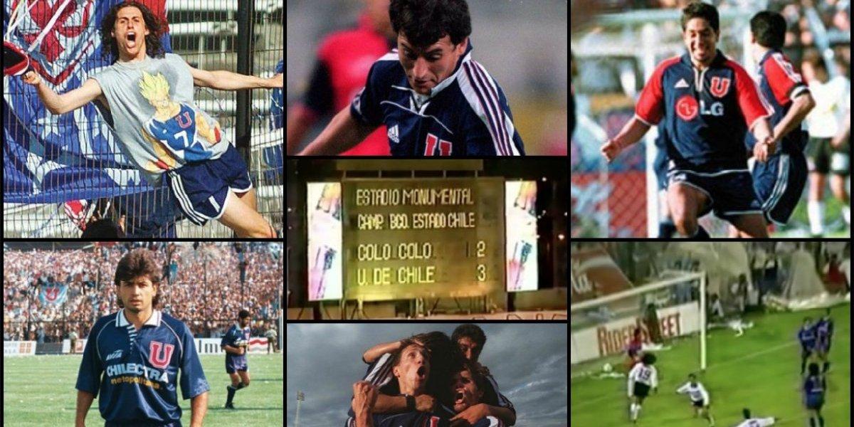Rivarola, el Heidi, el Rambo y Espina: Los equipos ideales de la U y Colo Colo de los 5 triunfos azules en el Monumental
