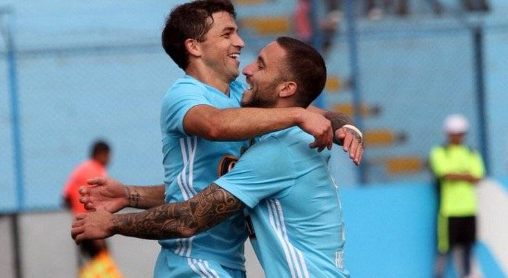 El uruguayo Gabriel Costa y el argentino Emanuel Herrera han sido las principales figuras en ofensiva del Sporting Cristal de Mario Salas / Foto: Twitter