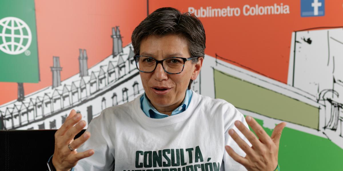 ¿Qué quiso decir? La extraña respuesta de Claudia López sobre su candidatura a la Alcaldía de Bogotá