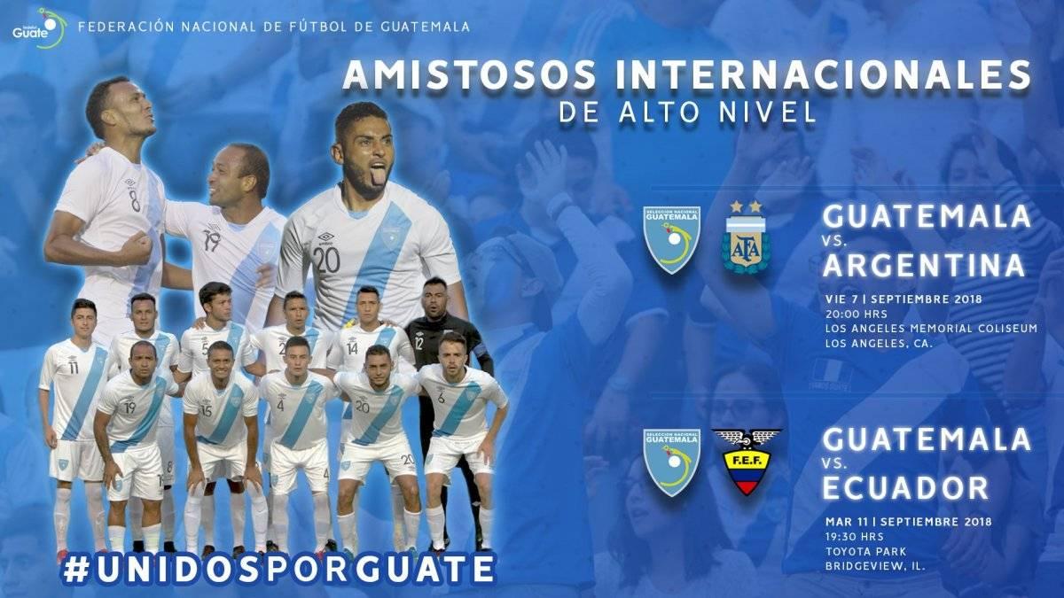 Presentación de los dos juegos que tendrá Guatemala