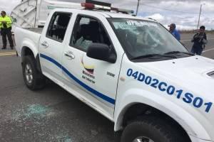 Agresión a Policías en la Y de Bolívar, provincia del Carchi